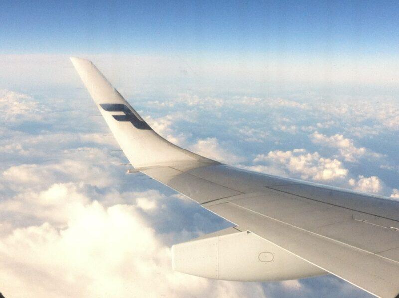 Finnair Flugzeug-Flügel