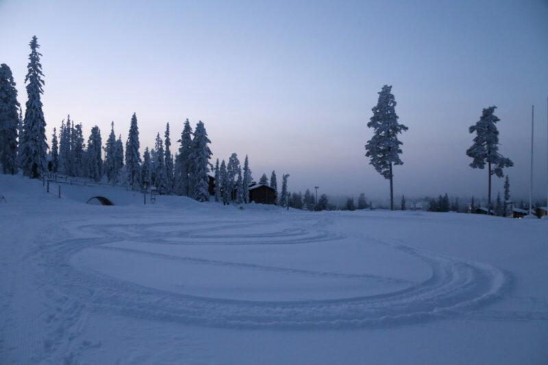 Spuren im Schnee, Ruka, Finnland