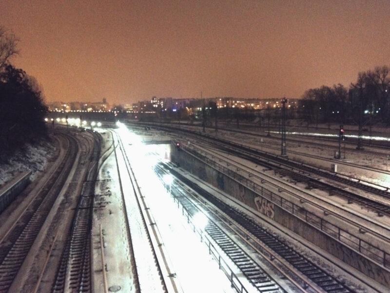 Berlin S-Bahn Gleise Schwinemuender Bruecke Winter IMG_6682