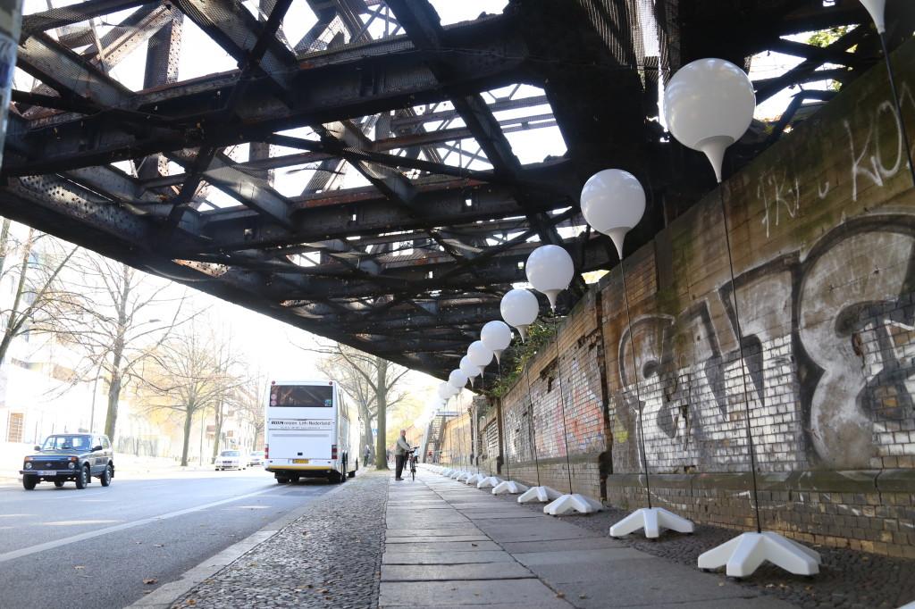 Lichtgrenze Berlin S-Bahn-Brücke