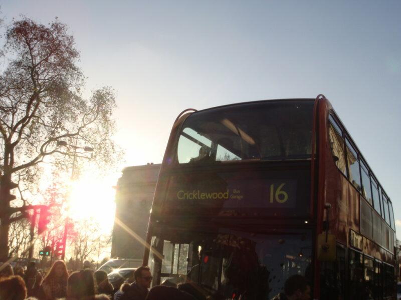 London Bus Sonnenschein