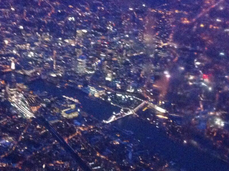 London: Tower Bridge Luftbild bei Nacht