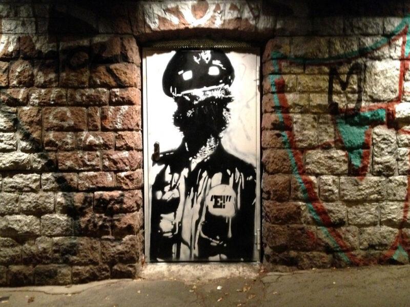 Street-Art Berlin-Mitte Schablone