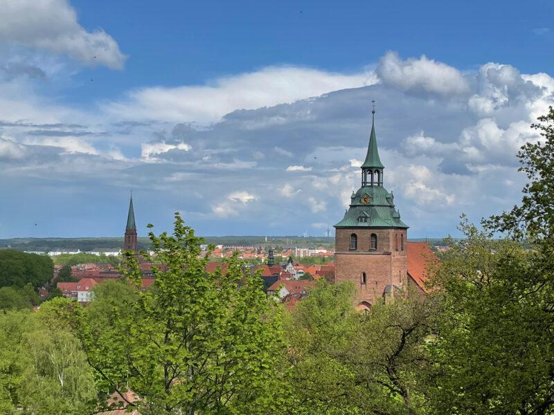 Lüneburg: Kalkberg Panorama, St Michaelis Kirche